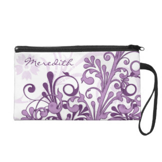 Mitón personalizado floral blanco púrpura elegante