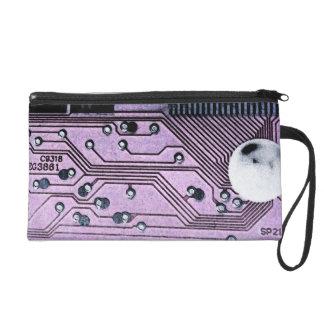 Mitón púrpura de Moonscape de la placa de circuito