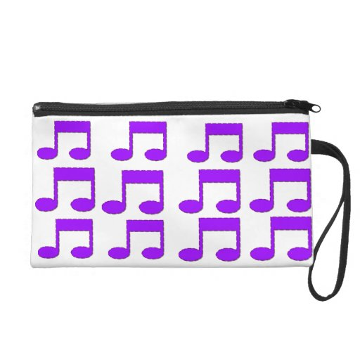 Mitón púrpura del diseño del tema de las notas de
