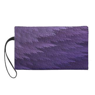 Mitón púrpura del modelo de la pluma del tartán de