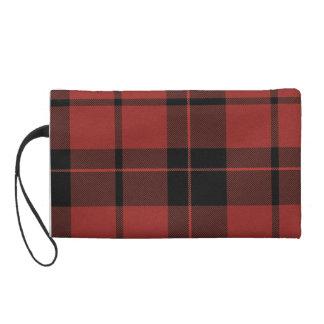 Mitón rojo de la tela escocesa
