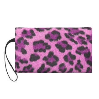 Mitón rosado del estampado leopardo