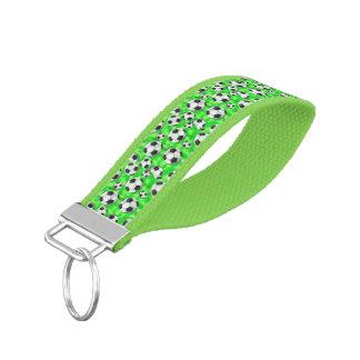 Mitón verde del personalizable de los balones de llavero de pulsera