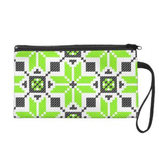 Mitón verde fresco fluorescente del bolso de Baget