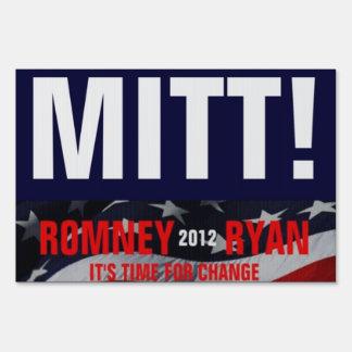 ¡Mitón Voto para Romney Ryan muestra de 2012 yard