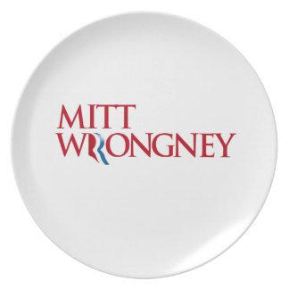 Mitón Wrongney Platos Para Fiestas