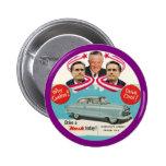 Mitón y George Romney Pin Redondo De 2 Pulgadas
