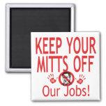 Mitones de nuestros trabajos imán para frigorifico