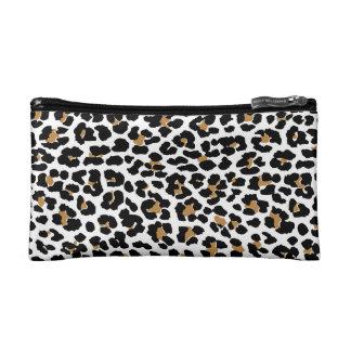 Mitones del estampado leopardo y bolsos cosméticos