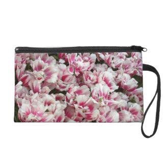 Mitones rosáceos de la imagen de los tulipanes