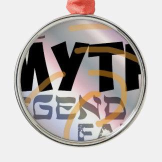 mitos binarios del comercio de opciones adorno navideño redondo de metal