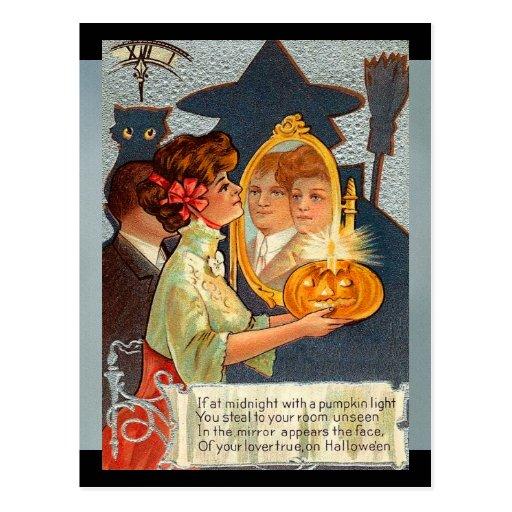 Mitos de Halloween del vintage Postal