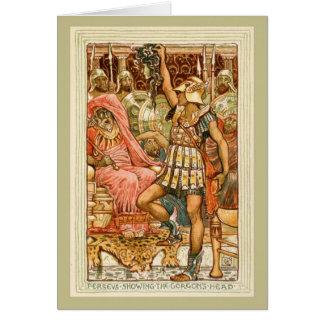 Mitos griegos antiguos Perseus por la grúa de Tarjeta De Felicitación