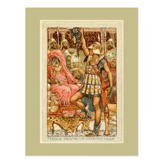Mitos griegos antiguos Perseus por la grúa de Postal