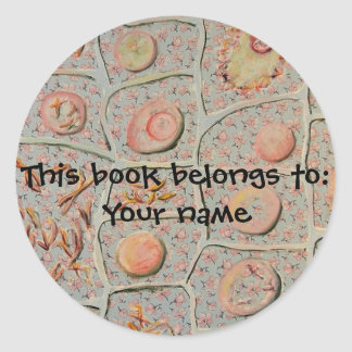 Mitosis bookplate sticker
