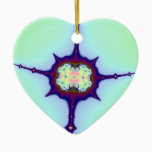 Mitosis Fractal Ceramic Ornament