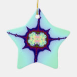 Mitosis Fractal Double-Sided Star Ceramic Christmas Ornament