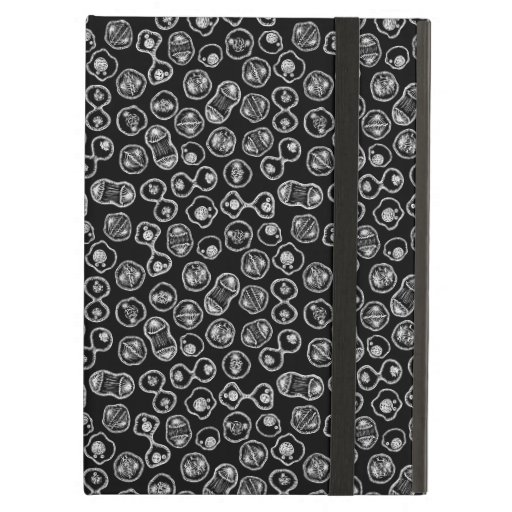 Mitosis - White on Black Case For iPad Air