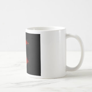 Mitotic metaphase (upper) and anaphase (lower) classic white coffee mug