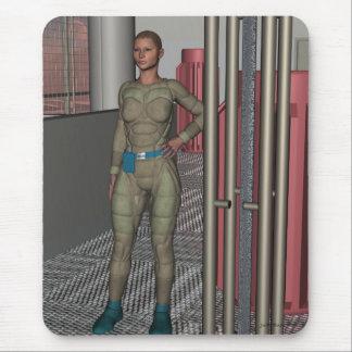 Mitra una heroína de Sci Fi Alfombrilla De Raton