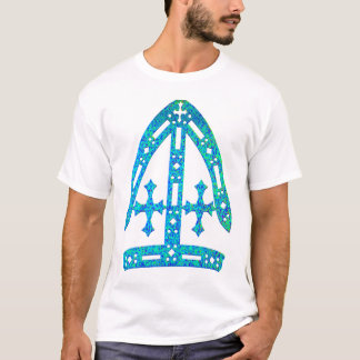 Mitre in blue and green T-Shirt