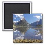 Mitre Peak, Milford Sound, Fiordland National 2 Inch Square Magnet
