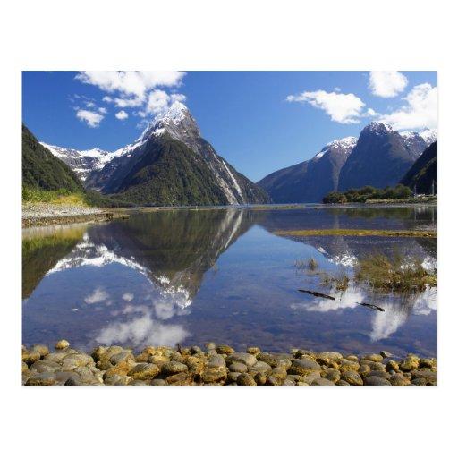 Mitre Peak, Milford Sound, Fiordland National Postcard