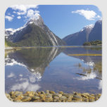 Mitre Peak, Milford Sound, Fiordland National Square Sticker