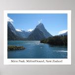 Mitre Peak, Milford Sound, New Zealand Poster