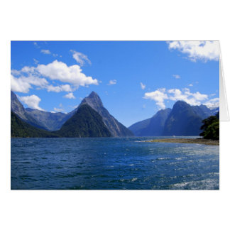 Mitre Peak, Milford Sound, NZ, Card