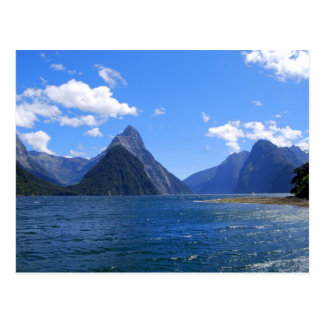 Mitre Peak, Milford Sound, NZ Postcard