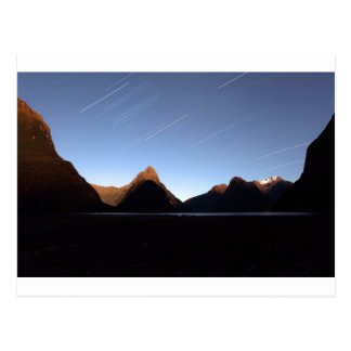 Mitre Peak star trail Postcard