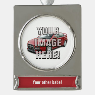 Mitshibihsi EVO X Photo | Add your car! Funny Silver Plated Banner Ornament