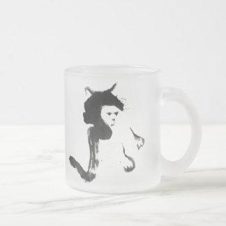Mitss el gato, Sumi-e Taza De Cristal