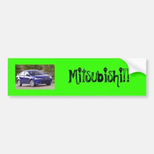 ¡mitsu_2007_bleue_petite, Mitsubishi!! Pegatina Para Auto