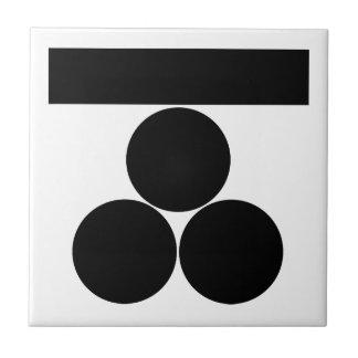 mitsu-boshi Ichi-Moji-ni para Fuchu Azulejo Cuadrado Pequeño