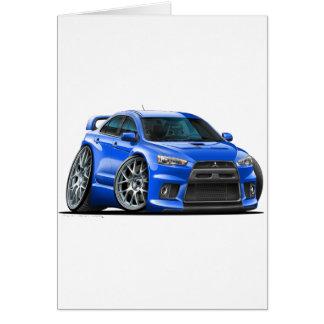 Mitsubishi Evo Blue Car Card