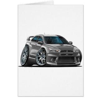 Mitsubishi Evo Grey Car Card