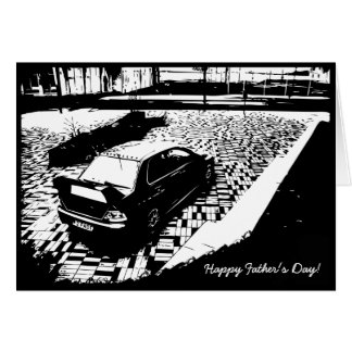 Mitsubishi EVO IX Father's Day Card