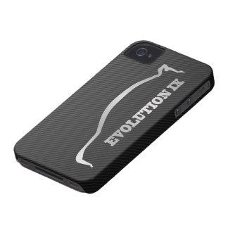 Mitsubishi Evo IX Silver Silhouette & Faux Carbon iPhone 4 Case-Mate Case