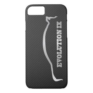 Mitsubishi Evo IX Silver Silhouette & Faux Carbon iPhone 7 Case
