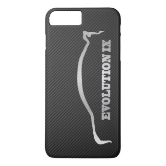 Mitsubishi Evo IX Silver Silhouette & Faux Carbon iPhone 7 Plus Case