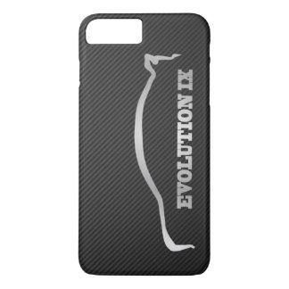 Mitsubishi Evo IX Silver Silhouette & Faux Carbon iPhone 7 Plus Case