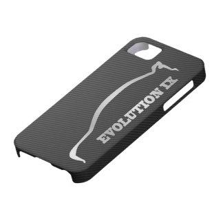 Mitsubishi Evo IX Silver Silhouette & Faux Carbon iPhone SE/5/5s Case
