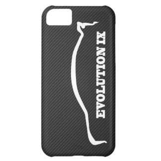 Mitsubishi Evo IX White Silhouette & Faux Carbon Case For iPhone 5C