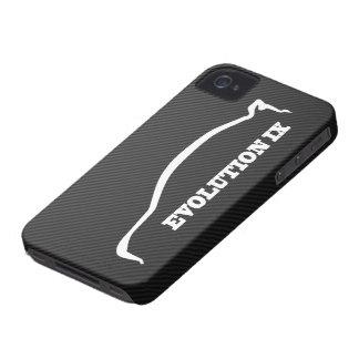 Mitsubishi Evo IX White Silhouette & Faux Carbon iPhone 4 Cover