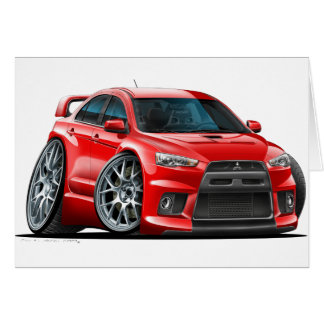 Mitsubishi Evo Red Car Card