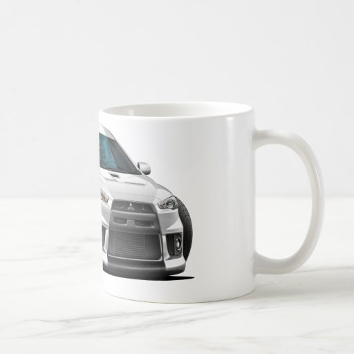 Mitsubishi Evo White Car Coffee Mug | Zazzle