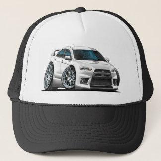 Mitsubishi Evo White Car Trucker Hat
