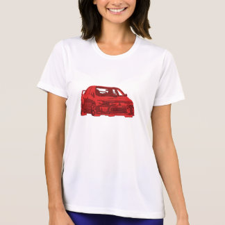 Mitsubishi Evo - X - Bright Red Design T-shirts